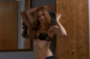 Isla Fisher hot and sexy in black lingerie in – Wedding Daze (2006) hd720p
