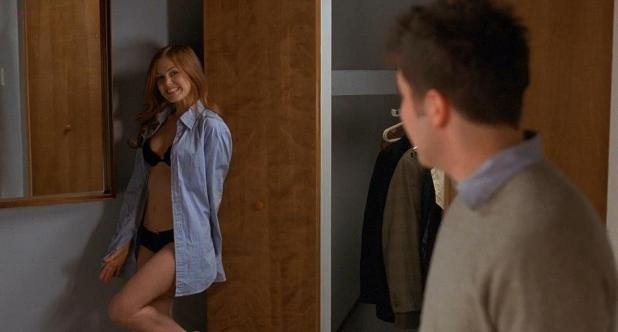 Isla Fisher hot and sexy in black lingerie in - Wedding Daze (2006) hd720p