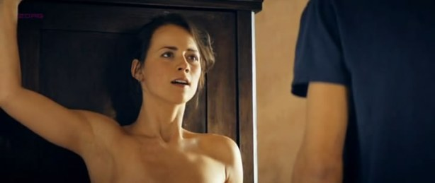 Karine Vanesse nude brief topless and mild sex in - Angle Mort (2011)