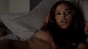 Megalyn Echikunwoke topless nude on the bed from House Of lies s1e7 hd720p