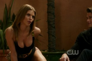 AnnaLynne McCord sexy huge cleavage in black lingerie – 90210 s04e18 hd720p