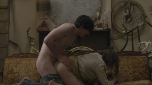 Lena Dunham butt naked and sex doggy style - Girls s1e1 hd720p