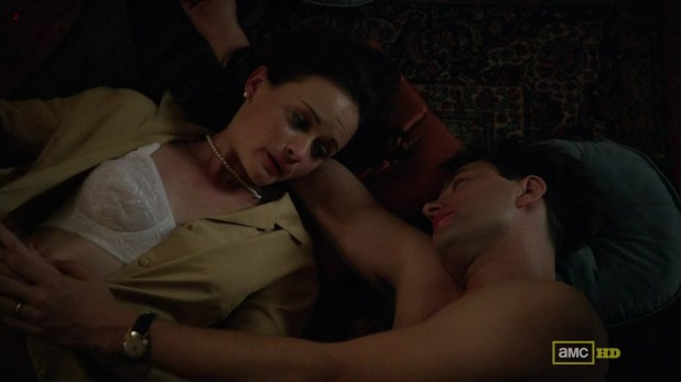 """Alexis Bledel very hot in bra from """"Mad Man"""" s5e8 hd720p"""