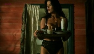 Catherine Zeta-Jones hot in black lingerie from - Blue Juice (1995)