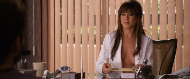 Jennifer Aniston sexy and very hot great cleavage and fine legs in - Horrible Bosses (2011) hd1080p (3)
