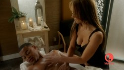 Jennifer Love Hewitt sexy and hot cleavage in lingerie - The Client List s1e9 hd720p (8)