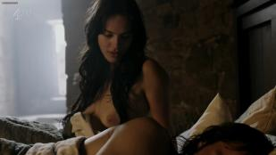 Jessica Brown Findlay full nude topless and butt and Katie McGrath sex and full nude Labyrinth 1x1 (2013) hd720p