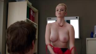 Betty Gilpin stripping to nude topless and then goes for oral - Nurse Jackie (2013) s05e05 hd720p w/slow motion