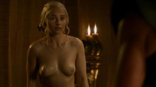Emilia Clarke nude butt and topless  and Carice van Houten nude hot sex - Game of Thrones s3e8 hd1080p
