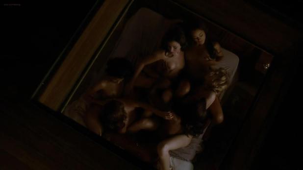 Lesbian nude orgy scene - Magic City (2013) s2e2 hd720p