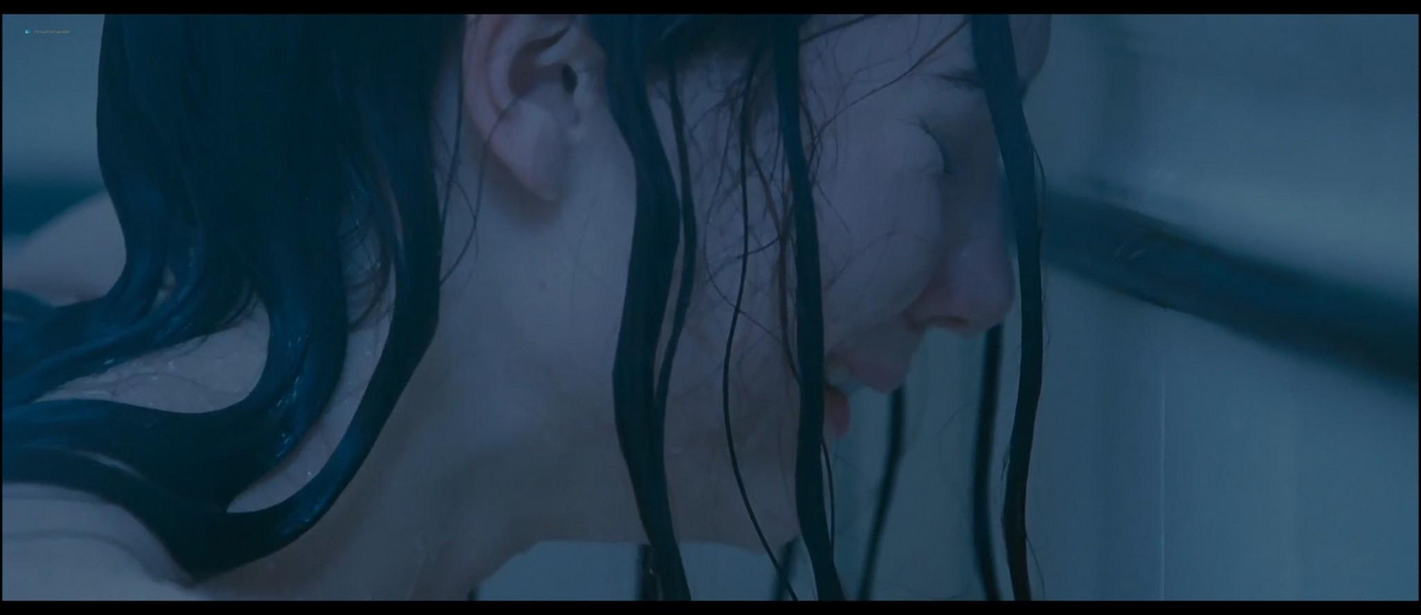 Mia Wasikowska nude nipple peak and butt while masturbating nude in the shower - Stoker (2013) HD 1080p BluRay (7)