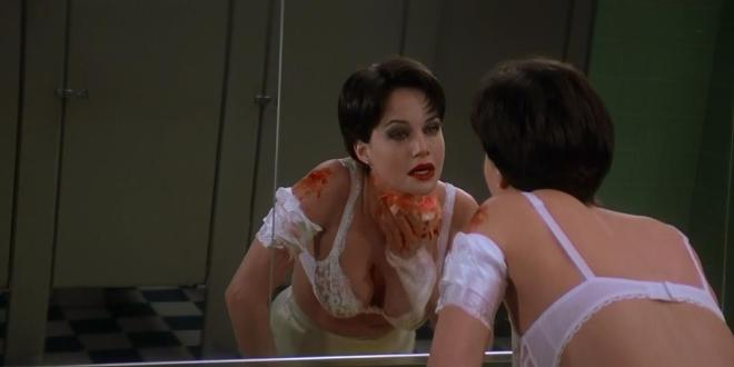 Carla Gugino hot and sexy huge cleavage - Snake Eyes (1998) hd1080p (2)