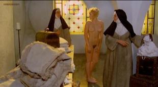 Eleonora Giorgi nude full frontal bush and Paola Senatore nude topless - Story of a Cloistered Nun (1973)