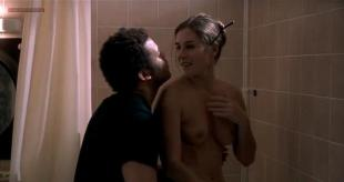 Mathilde Seigner nude topless in the shower and hot in lingerie - Alias Betty (FR-2001)
