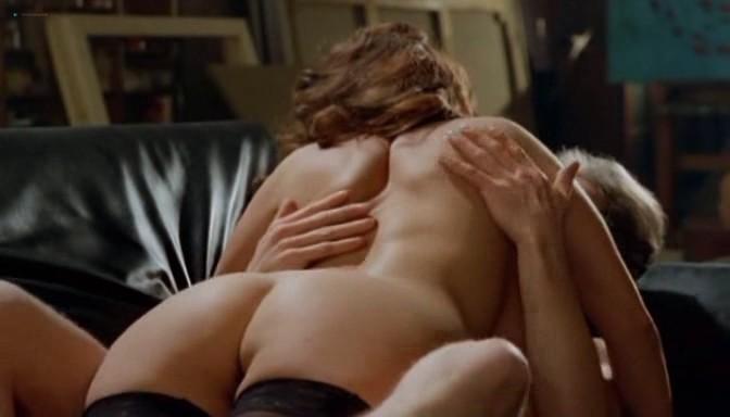 Serena Grandi nude topless bush full frontal oral and near explicit - Desiderando Giulia (1986) (9)