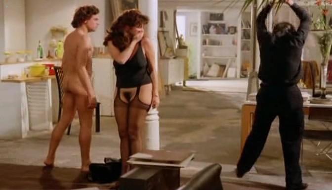 Serena Grandi nude topless bush full frontal oral and near explicit - Desiderando Giulia (1986) (4)