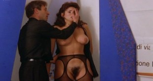 Serena Grandi nude topless bush full frontal oral and near explicit - Desiderando Giulia (1986) (2)
