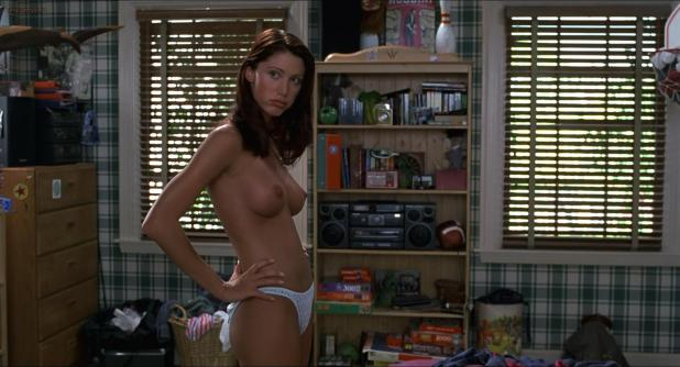 Shannon Elizabeth nude topless in legendary scene from - American Pie (1999) hd1080p