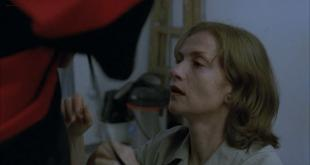 Isabelle Huppert implied oral sex and brief nude topless - La pianiste (2001) hd720p