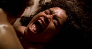 Lisa Bonet nude topless bloody and hot sex and Elizabeth Whitcraft nude topless in - Angel Heart (1987) hd1080p (9)