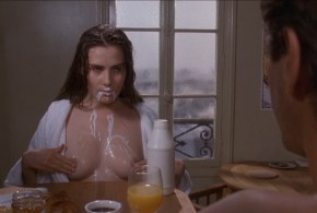 Emmanuelle Seigner nude topless milk and more  – Bitter Moon (1992) hd720-1080p