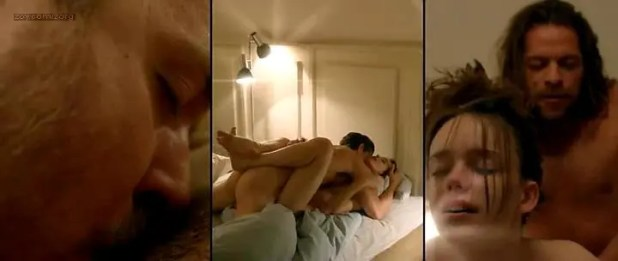 Stacy Martin nude explicit though fake oral sex and penetration in Lars von Trier - Nymphomaniac Volume: I & II (2013)