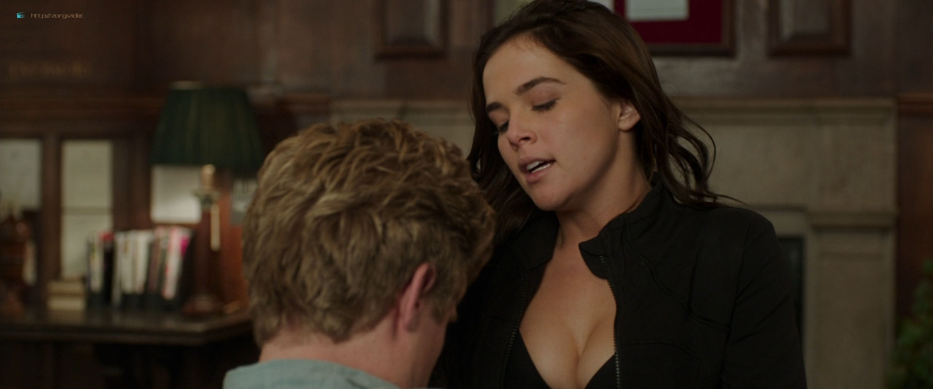 Zoey Deutch hot and sexy in black lingerie and some mild sex in - Vampire Academy (2014) HD 1080p BluRay (14)