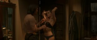 Zoey Deutch hot and sexy in black lingerie and some mild sex in - Vampire Academy (2014) HD 1080p BluRay