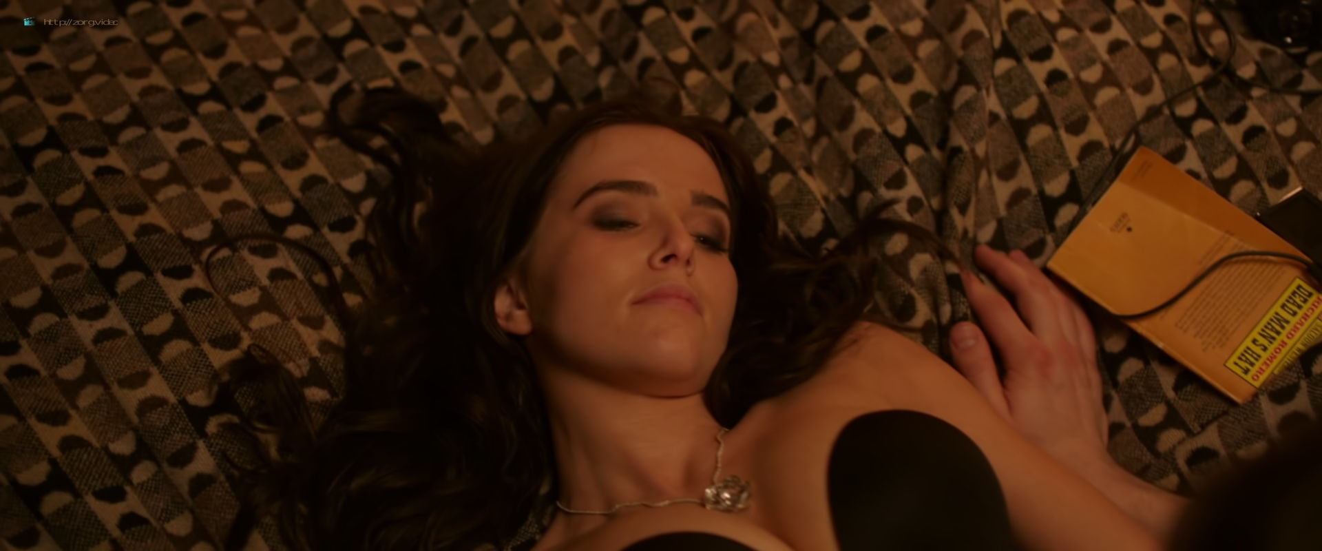 Zoey Deutch hot and sexy in black lingerie and some mild sex in - Vampire Academy (2014) HD 1080p BluRay (6)