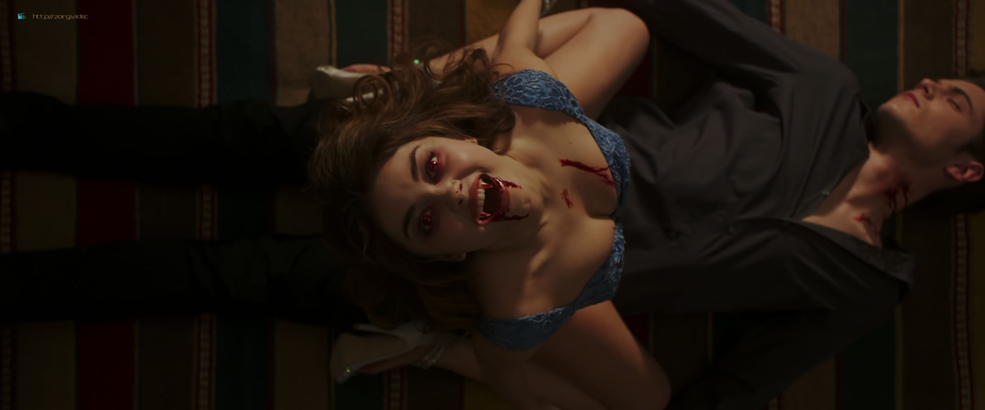 Zoey Deutch hot and sexy in black lingerie and some mild sex in - Vampire Academy (2014) HD 1080p BluRay (2)