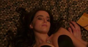 Zoey Deutch hot and sexy in black lingerie and some mild sex in - Vampire Academy (2014) hd720p