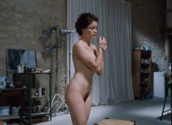 Emmanuelle Béart nude full frontal bush and nude modeling in - La belle noiseuse (FR-1991) HD 1080p BluRay (15)