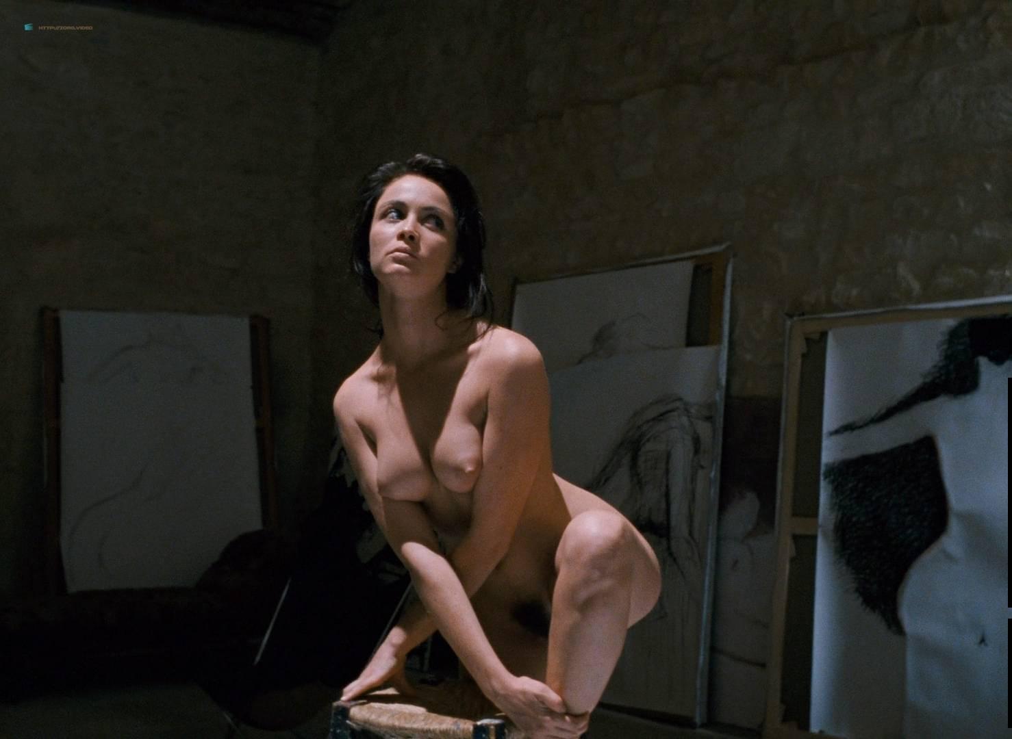 Emmanuelle Béart nude full frontal bush and nude modeling in - La belle noiseuse (FR-1991) HD 1080p BluRay (7)