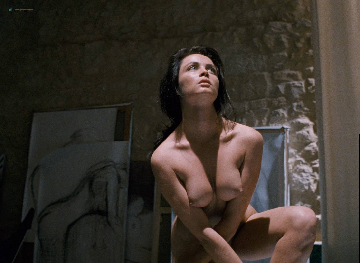 Emmanuelle Béart nude full frontal bush and nude modeling in - La belle noiseuse (FR-1991) HD 1080p BluRay (6)