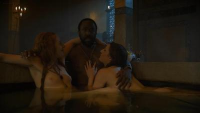 Sarine Sofair nude topless in the bath - Game Of Thrones (2014) s4e6 hd720p