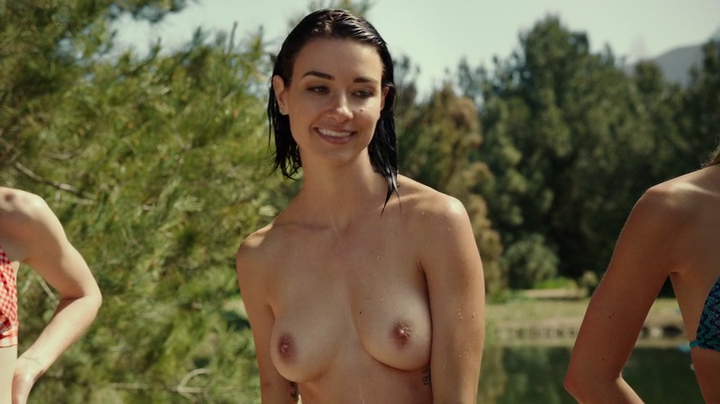Cortney Palmnude topless and Lexi Atkins not nude but hot in bikini - Zombeavers (2014) (6)