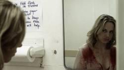Rebecca Whitehurst nude side boob in shower from - Dark Feed (2012) HD 1080p (3)