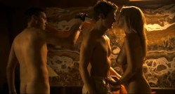 Sian Breckin nude sex and Jaime Winstone nude sex threesome - Donkey Punch (2008) (1)