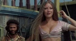 Jane Seymour nude side boob and nipple and Taryn Power nude side boob - Sinbad and the Eye of the Tiger (1977) hd1080p (5)