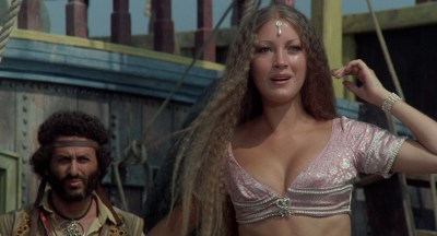 Jane Seymour nude side boob and nipple and Taryn Power nude side boob - Sinbad and the Eye of the Tiger (1977) hd1080p (5)