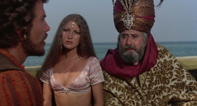 Jane Seymour nude side boob and nipple and Taryn Power nude side boob - Sinbad and the Eye of the Tiger (1977) hd1080p (4)