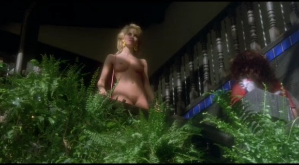 Monique Gabrielle nude full frontal and Corinne Wahl nude and hot - Amazon Women on The Moon (1987) (6)