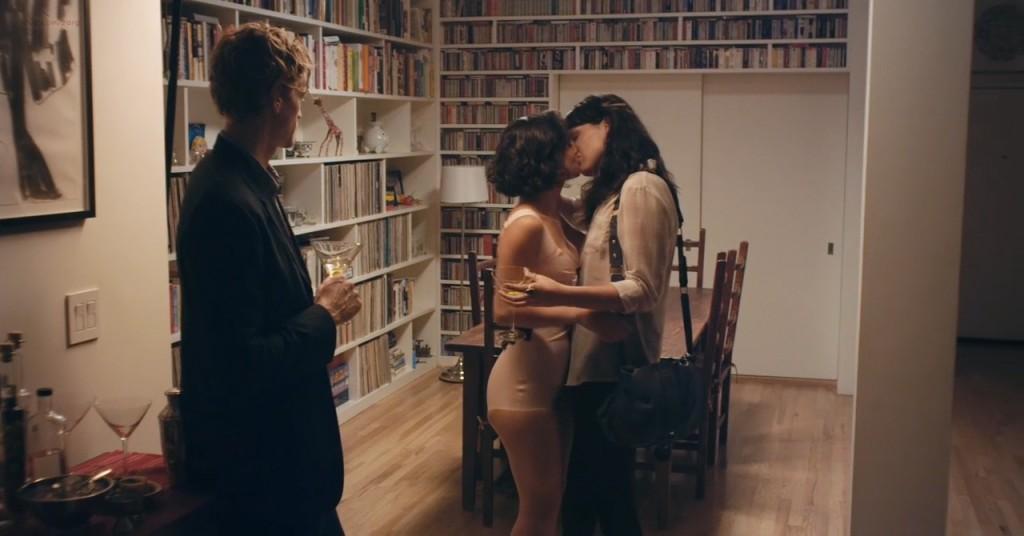 Desiree Akhavan nude topless and sex threesome - Appropriate Behavior (2014) WEB-DL hd720p (3)