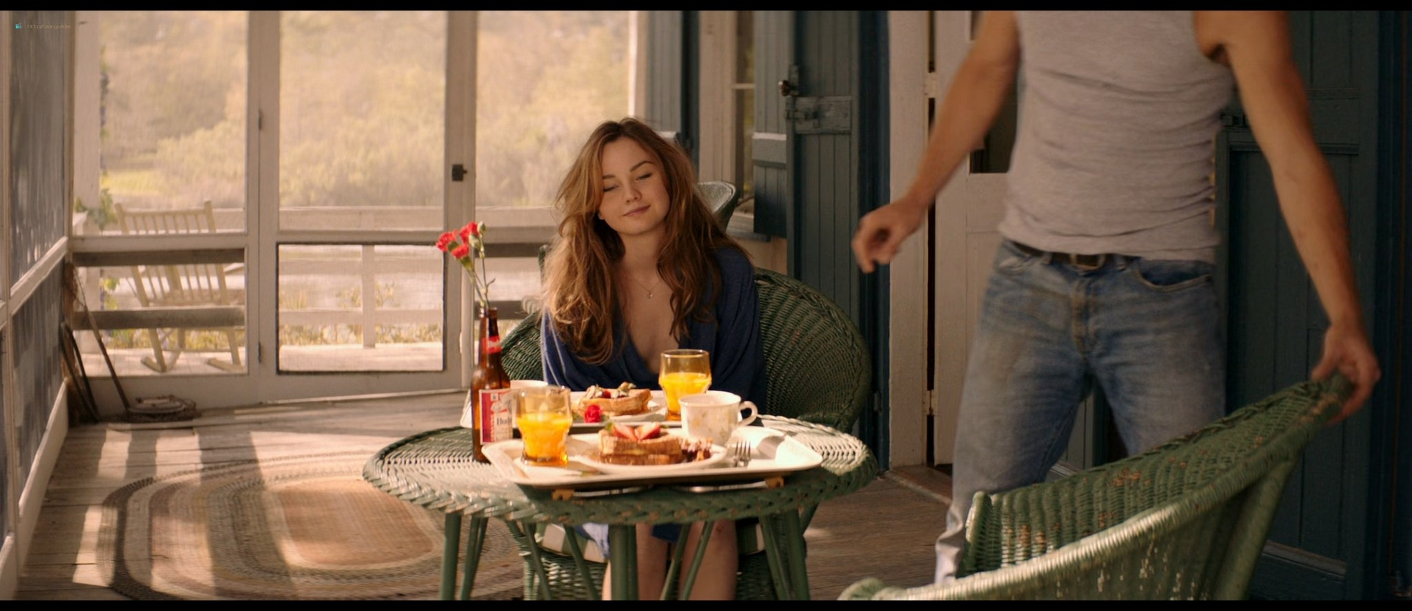 Michelle Monaghan hot see-through and Liana Liberato hot mild sex - The Best of Me (2014) HD 1080p BluRay (8)