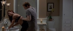 Rhona Mitra hot sex in bathroom and Laura Linney nude - The Life of David Gale (2003) (4)