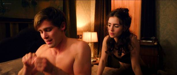 Lily Collins hot and cute in lingerie - Love Rosie (2014) HD1080p BluRay (9)