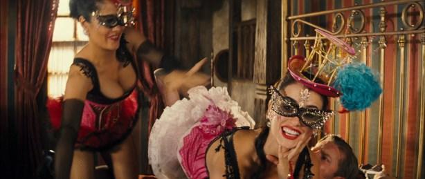 Penélope Cruz hot see through and Salma Hayek hot cleavage - Bandidas (2006) hd1080p (17)