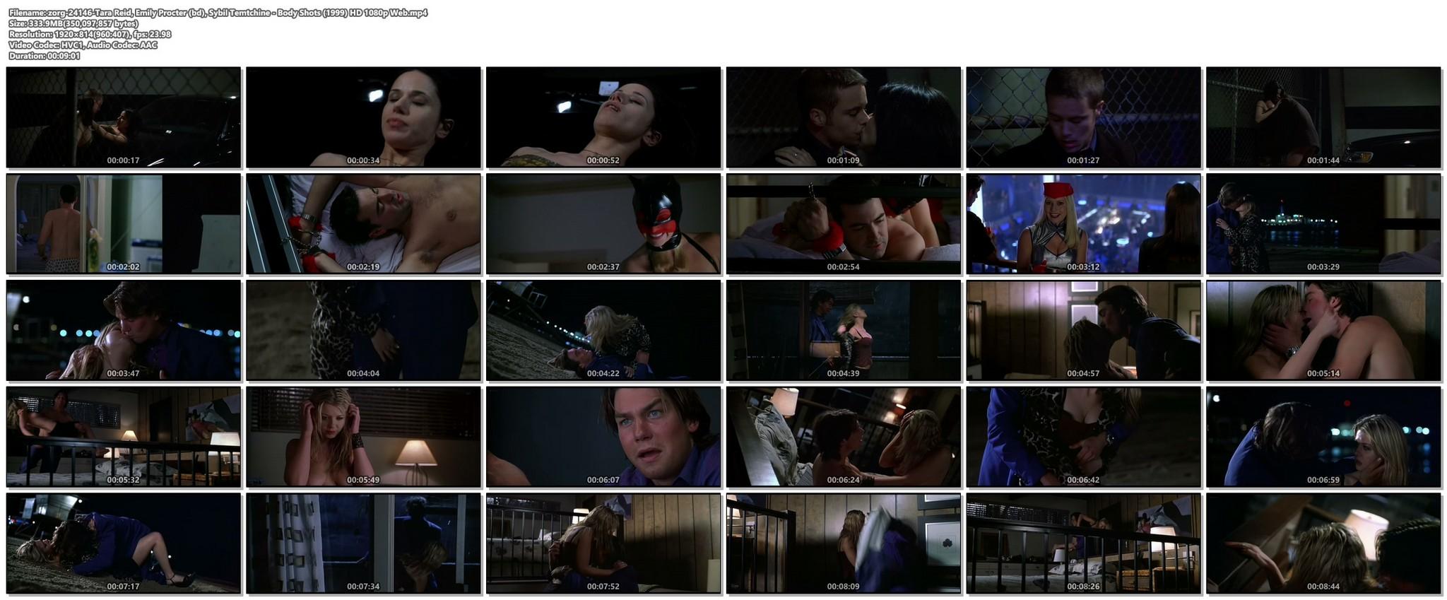Tara Reid nude hot sex and Emily Procter nude body double - Body Shots (1999) HD 1080p Web (1)