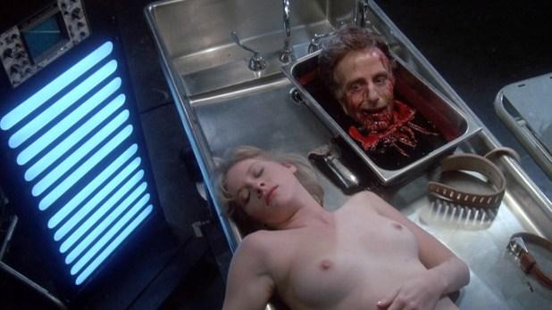 Barbara Crampton nude topless bush and bloody - Re-Animator (1985) hd1080p (7)