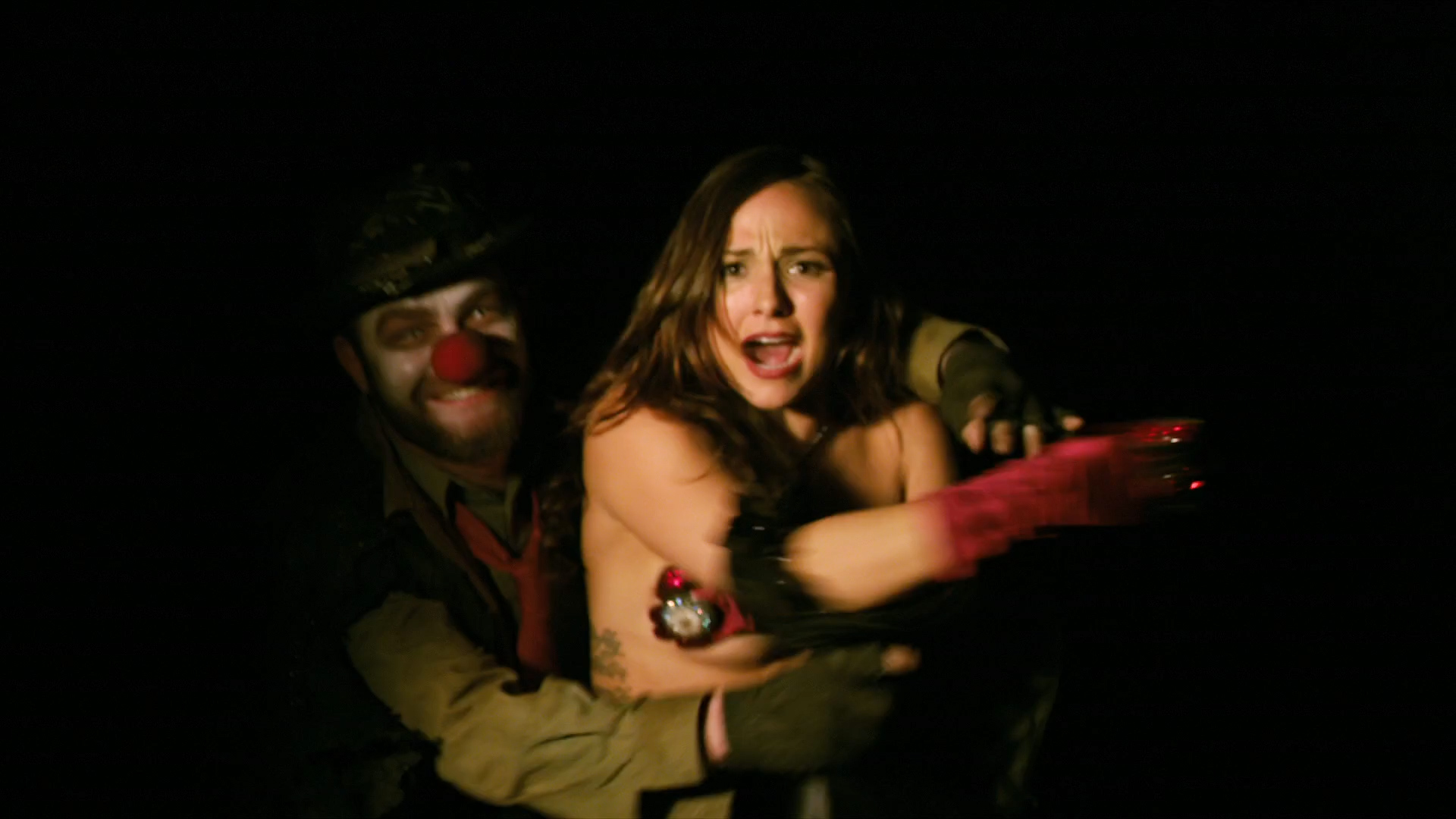 Briana Evigan nude topless with pasties - The Devil's Carnival (2012) hd1080p. (6)